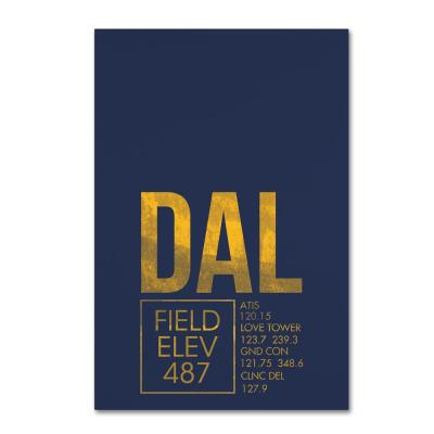 """30 in. x 47 in. """"DAL ATC"""" by 08 Left Canvas Wall Art"""