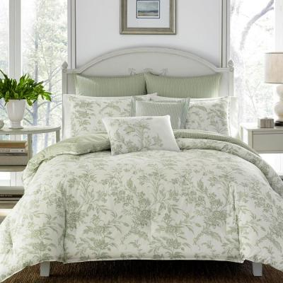 Natalie Green Cotton 7-Piece Comforter Set, King