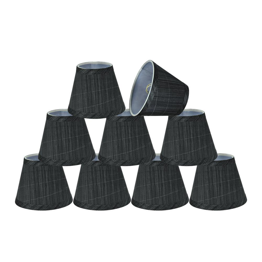 5 in. x 4 in. Grey and Black Hardback Empire Lamp