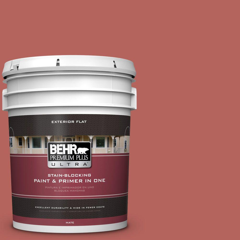 5-gal. #180D-6 Mineral Red Flat Exterior Paint