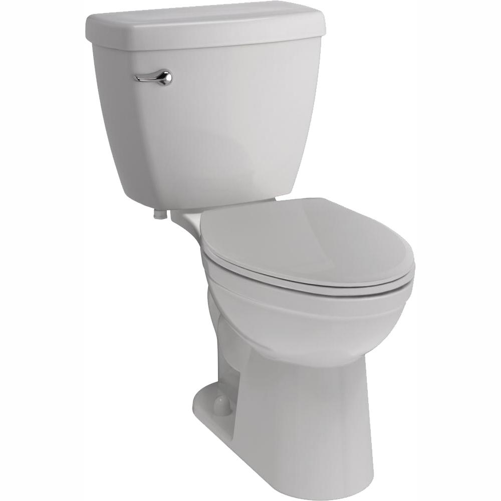 Delta Foundations 2-piece 1.28 GPF Single Flush Elongated Toilet in White