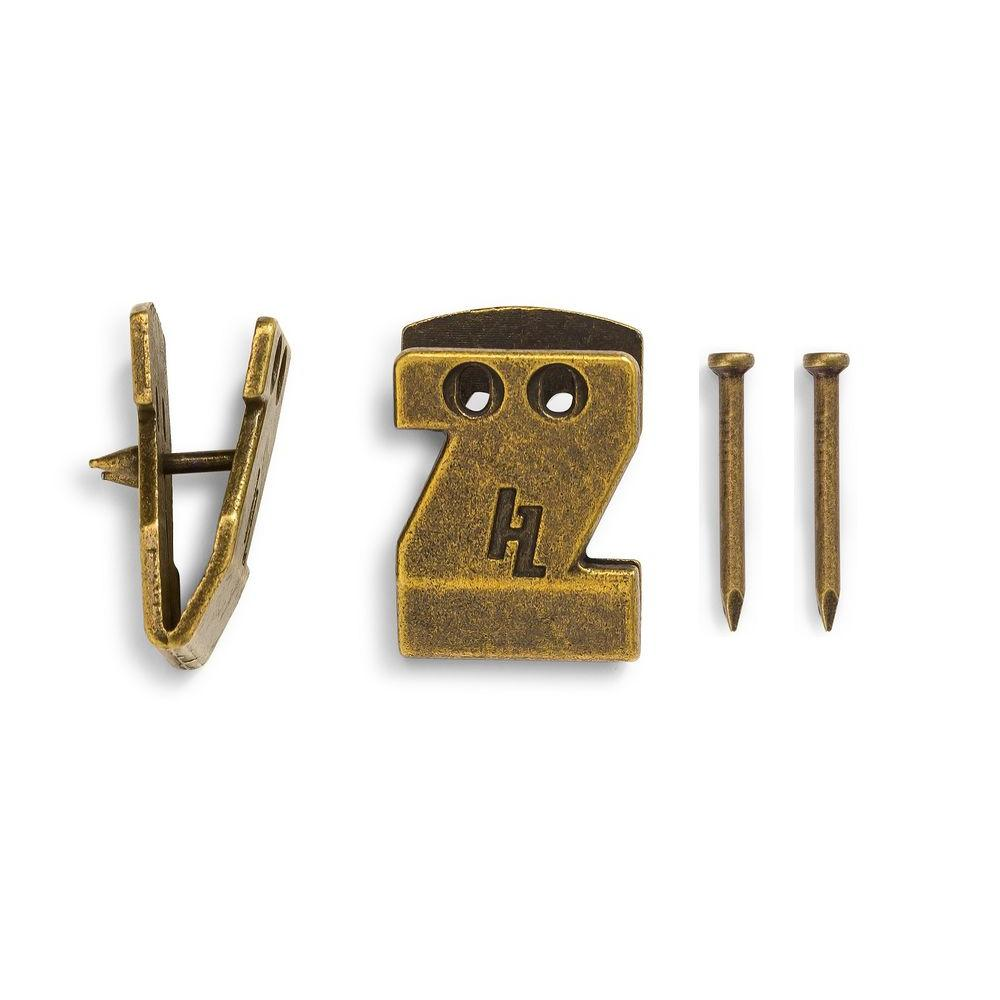 HangZ 15 lb. Canvas Flat Mount Saw Tooth Hooks (50-Pack)