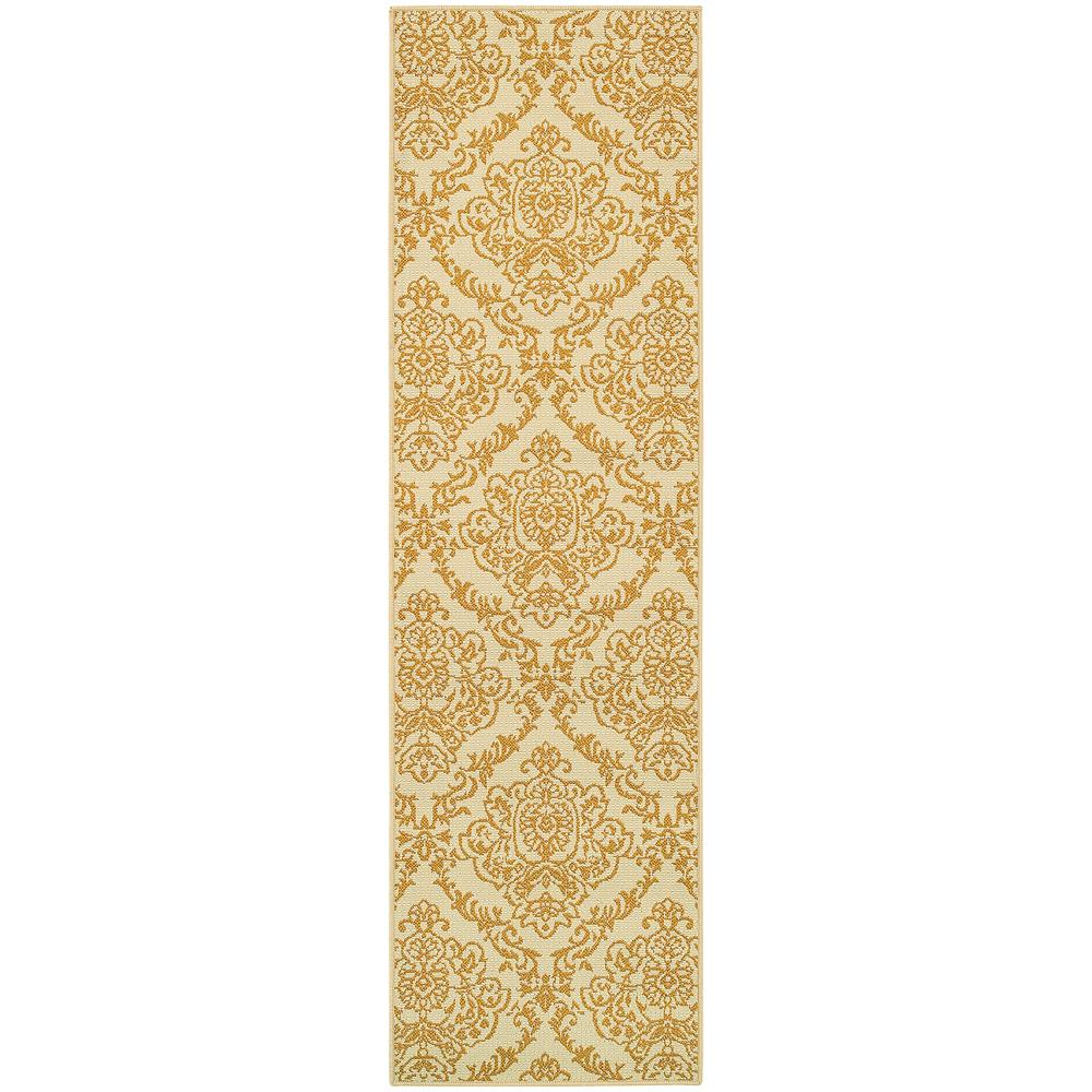 Home Decorators Collection Bimini Cream 2 Ft. X 8 Ft. Indoor/Outdoor Runner