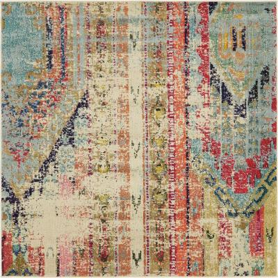 Sedona Yosemite Multi 6 ft. x 6 ft. Square Area Rug