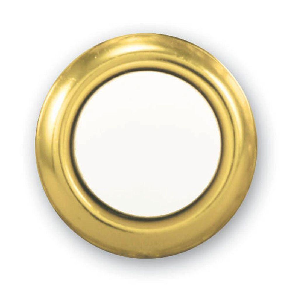 Wired Lighted Door Bell Push Button Insert, Brass