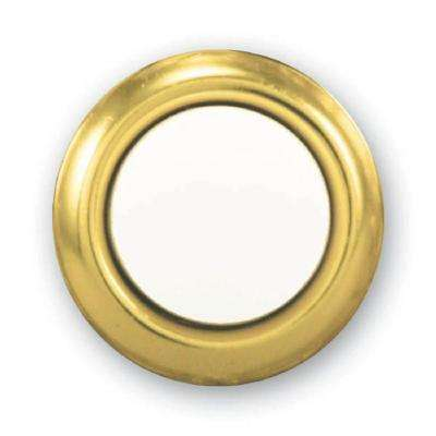 Wired LED Lighted Door Bell Push Button Insert in Brass