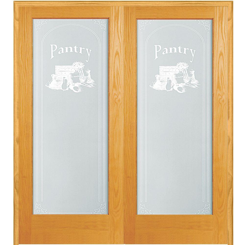 Captivating MMI Door 60 In. X 80 In. Both Active Unfinished Pine Pantry Design 1 Lite  Frost Prehung Interior French Door Z019985BA   The Home Depot