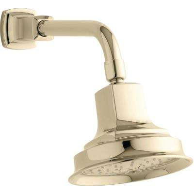 Margaux 1-Spray 5.9375 in. Showerhead with Katalyst Air Induction Technology in Vibrant French Gold