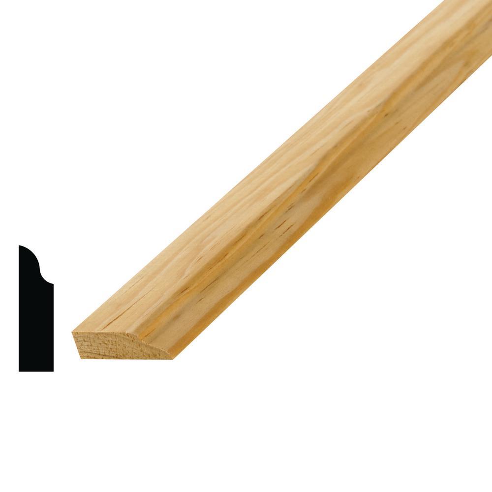 3/8 in. x 1-1/4 x 96 in. Solid Pine Door Stop Moulding