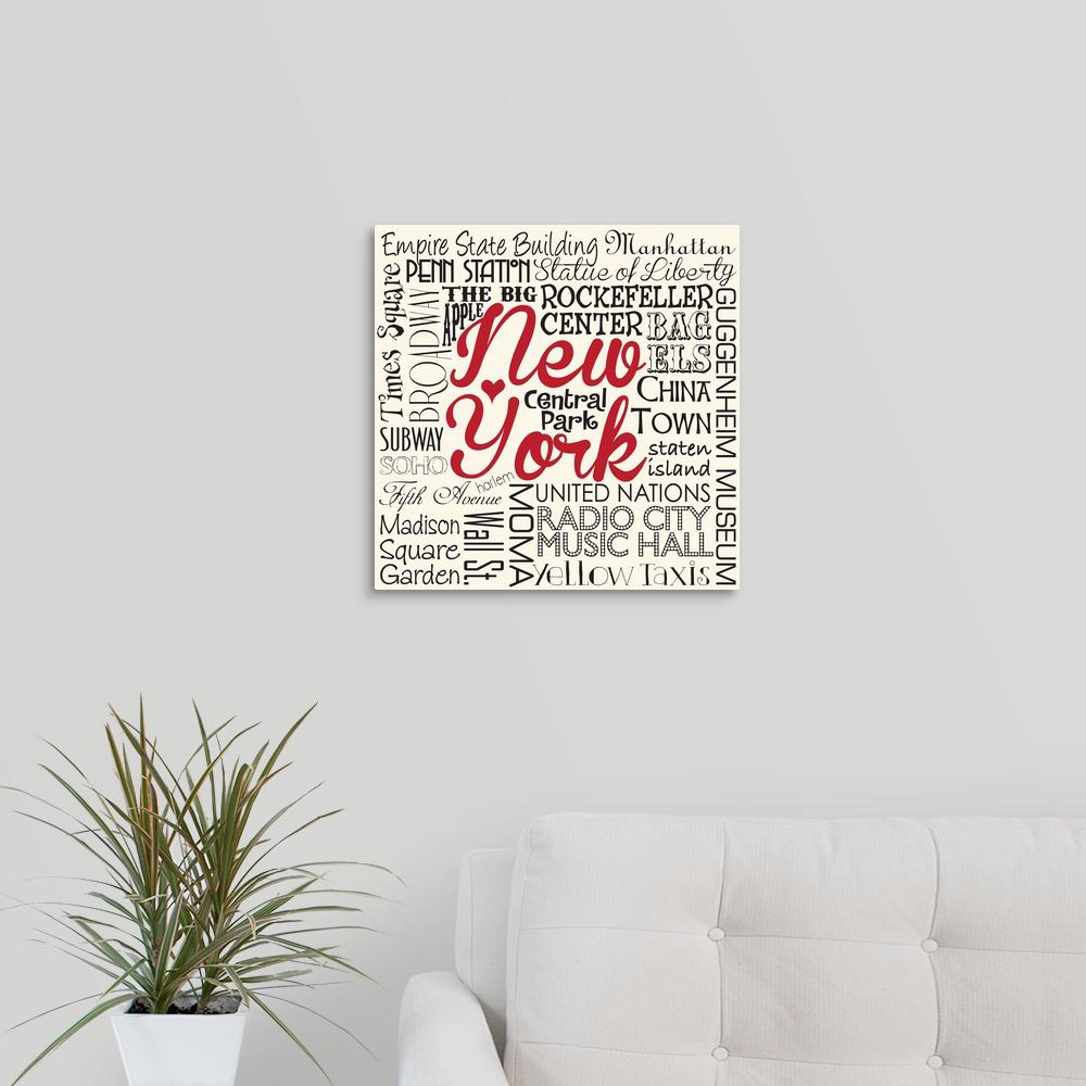 Living With Art In Madisons New Central >> Greatbigcanvas New York Sights By Melody Hogan Canvas Wall Art