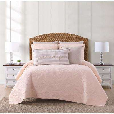 Chambray Coast Blush King Quilt Set