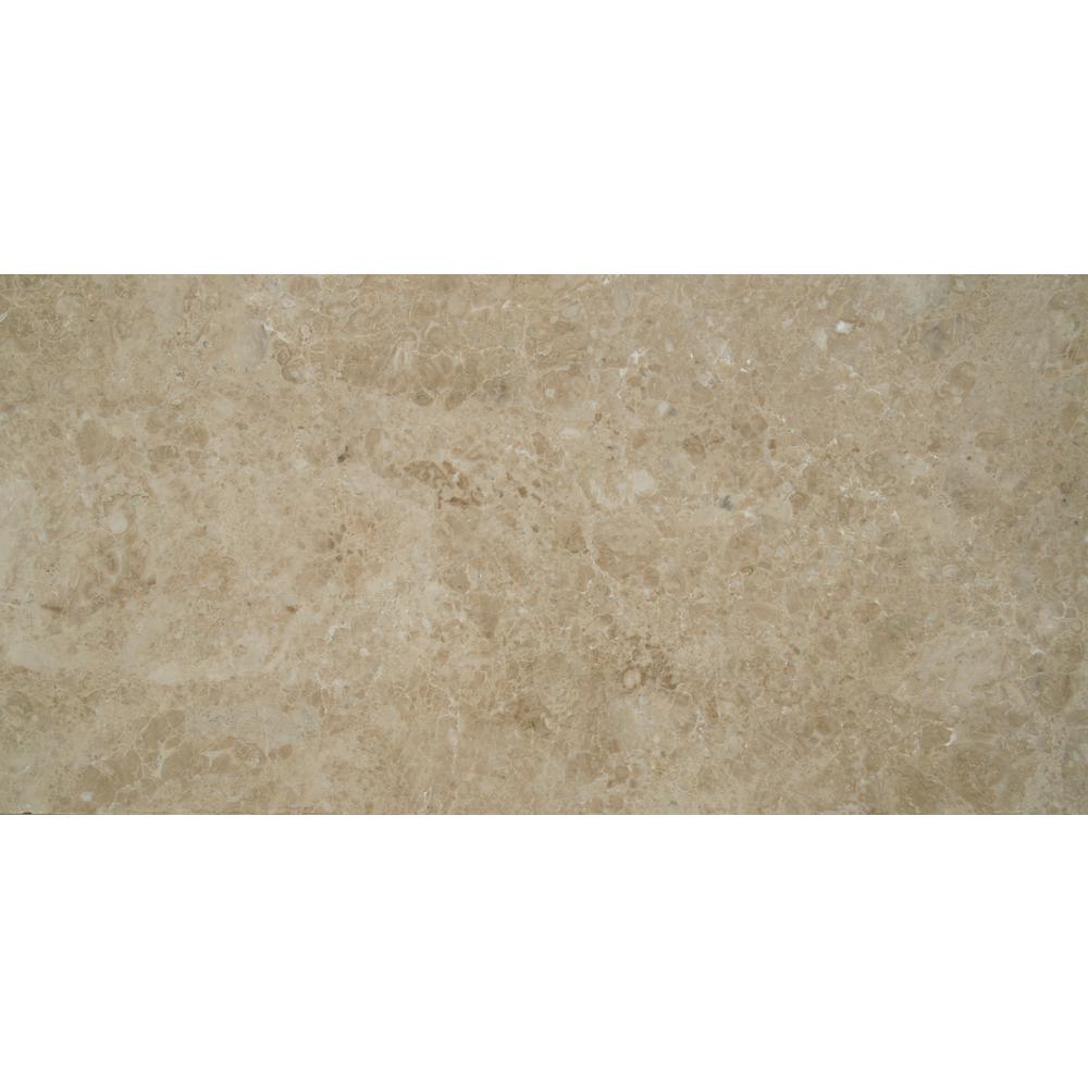MSI Cappuccino 12 in. x 24 in. Polished Marble Floor and Wall Tile (10 sq. ft. / case)