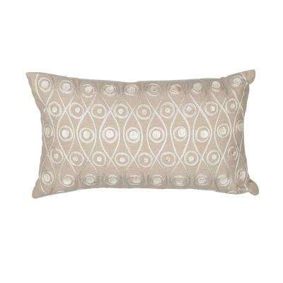 Tonal Curves Taupe Decorative Pillow