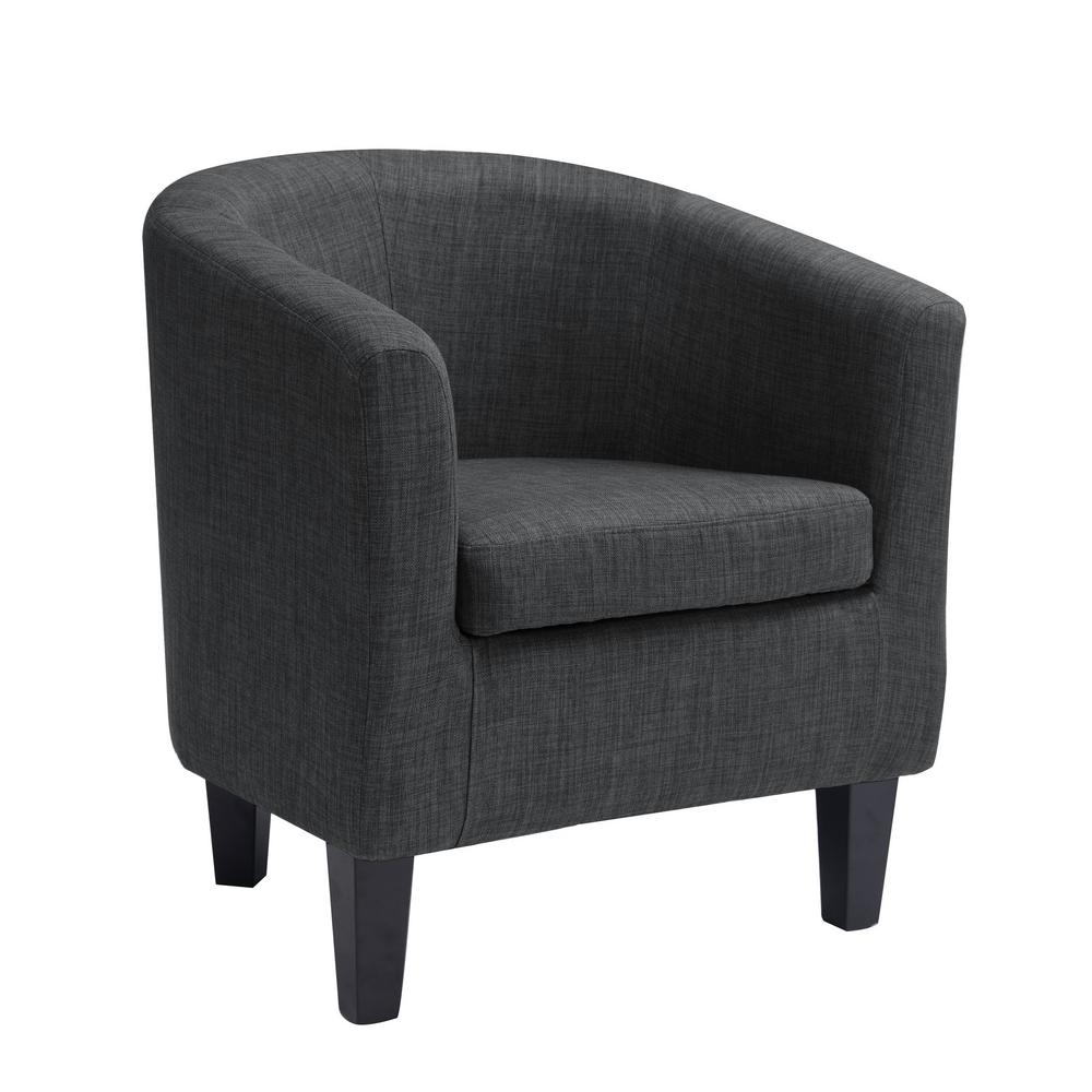 Corliving Antonio Dark Grey Fabric Tub Chair