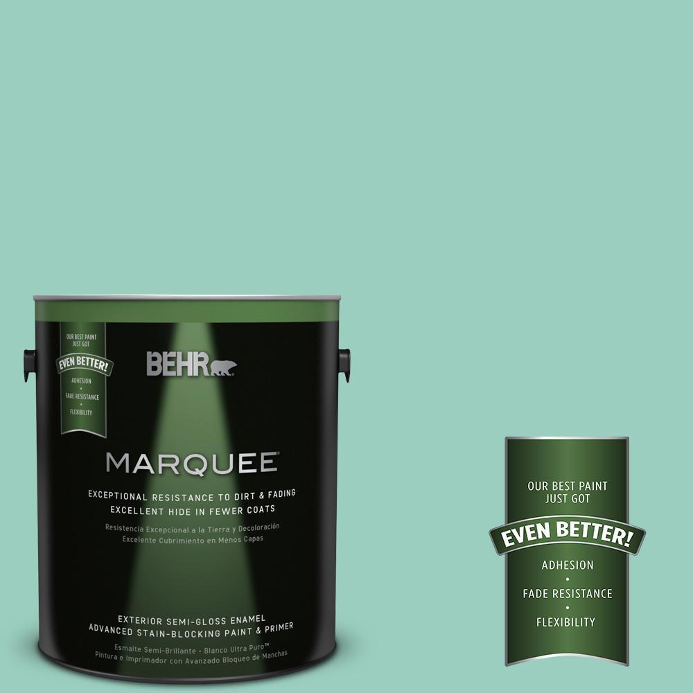 BEHR MARQUEE 1-gal. #HDC-SM14-6 Thermal Aqua Semi-Gloss Enamel Exterior Paint