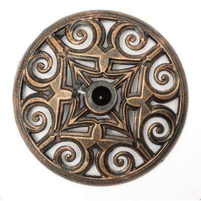 17.7 in. Cast Iron Patio Umbrella Base (Bronze)