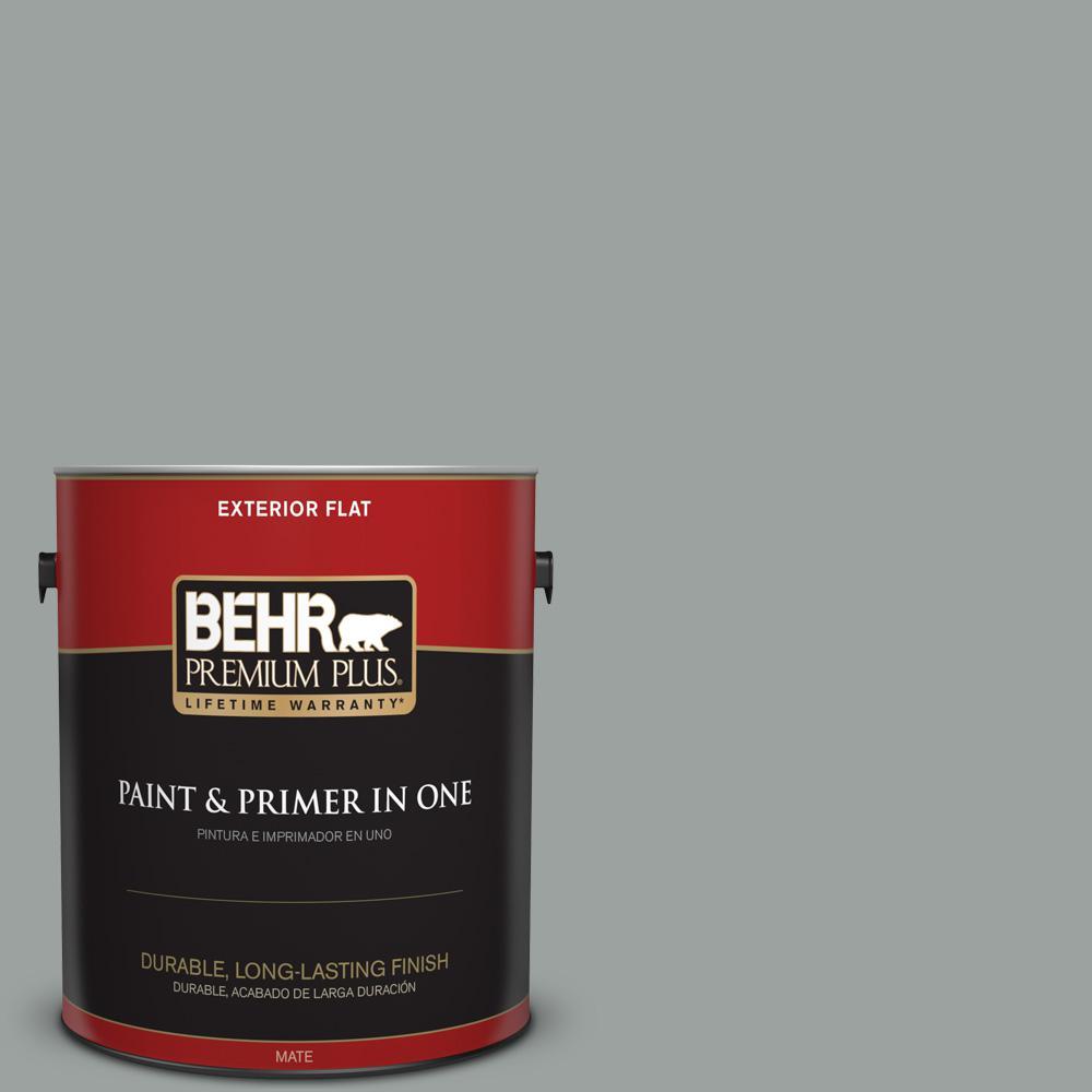 1 gal. #PPU11-16 Brampton Gray Flat Exterior Paint