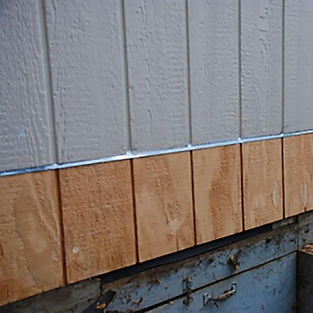 Gibraltar Building Products 3 8 In X 10 Ft Galvanized Steel Z Bar Flashing Szb38g The Home Depot