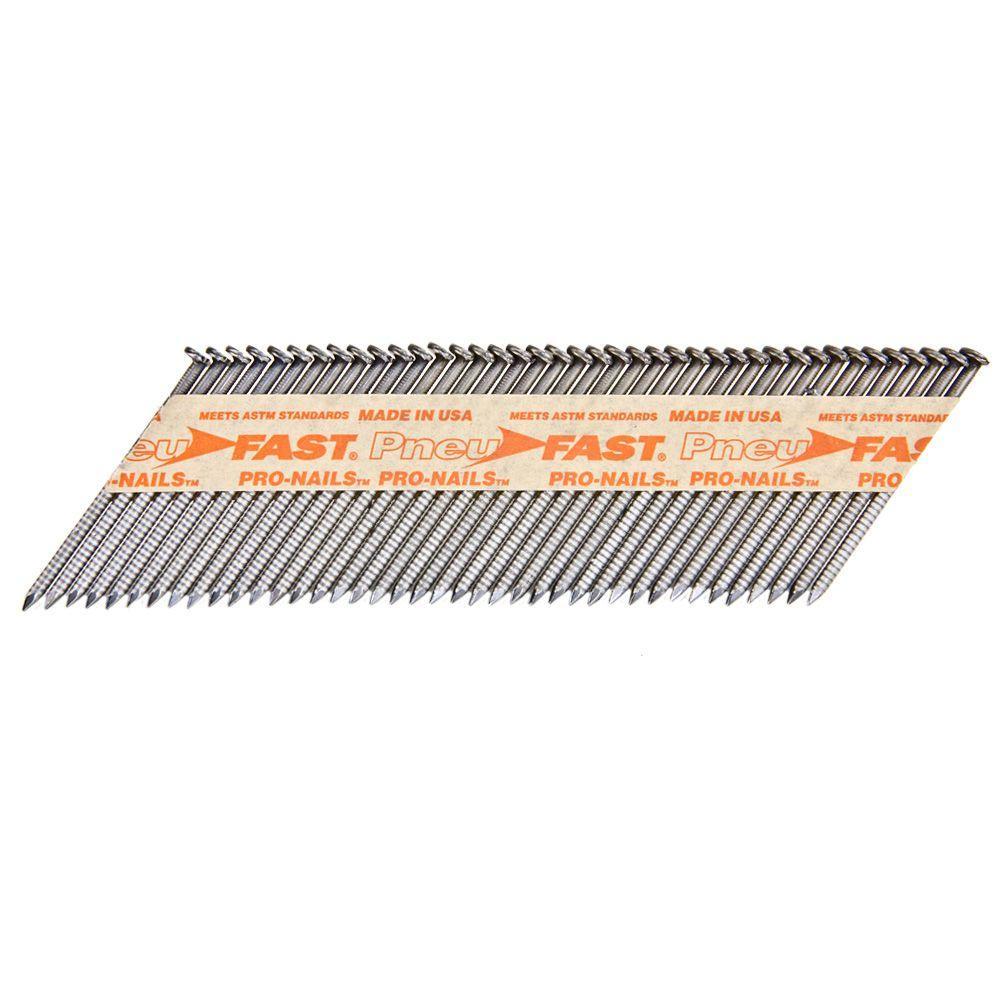 Pneu-Fast 2-3/8 in. x 0.113 in. Ring Brite 30-34 Degree Paper Tape Clipped Head Framing Nails