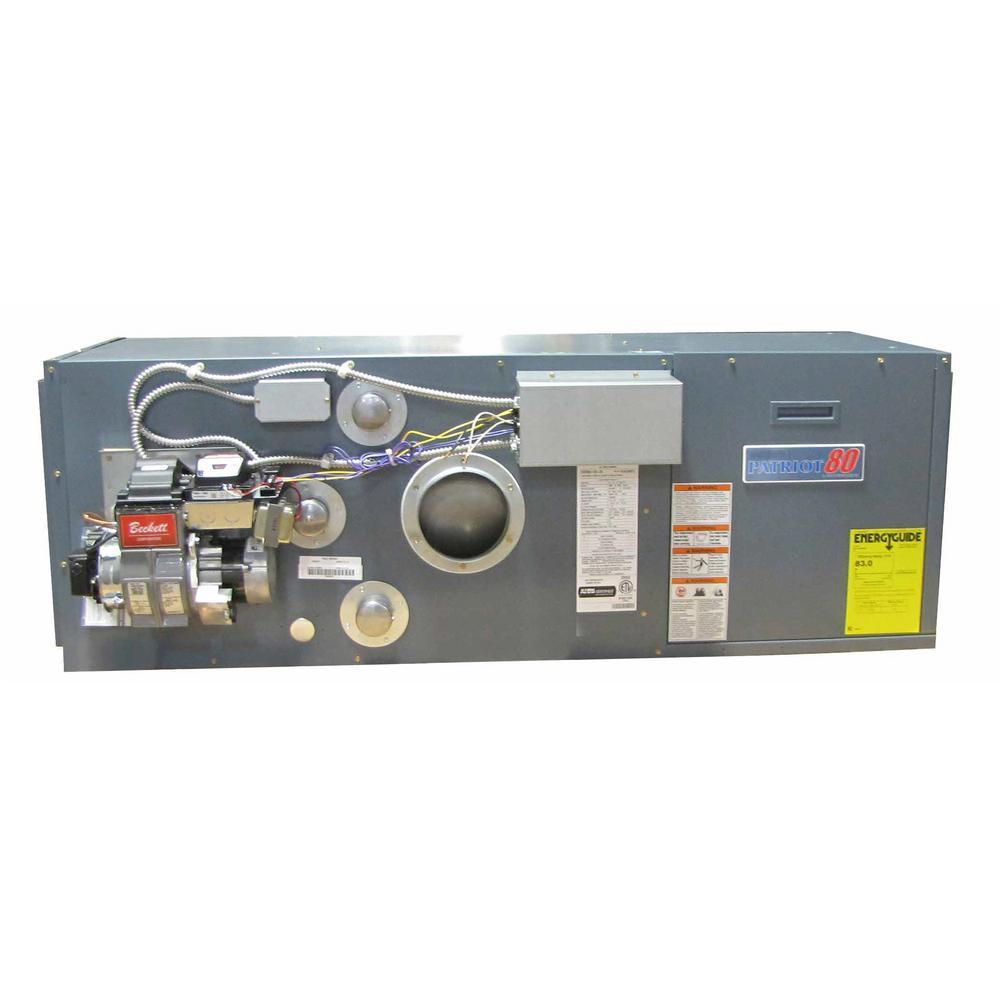 Patriot 80 84% AFUE 95,000 BTU Output Down Flow/Horizontal Front Flue Oil Hot Air Furnace