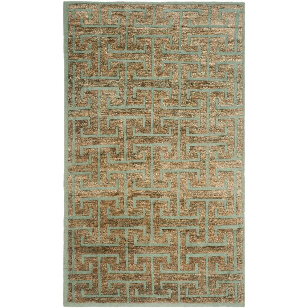 Safavieh Tangier Blue/Beige 4 ft. x 6 ft. Area Rug