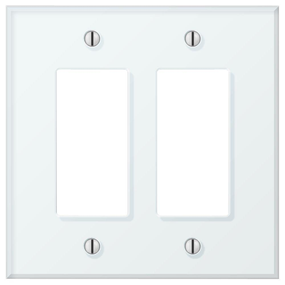 Acrylic Glass 2-Gang Decora Wall Plate