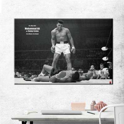 "24 in. x 36 in."" Ali vs. Liston"" Printed Canvas Wall Art"