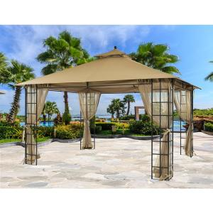 Apex Garden 10 Ft X 12 Ft Melody Gazebo With Mosquito Net 71590089 The Home Depot
