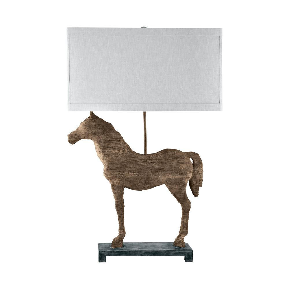 Titan lighting 31 in carved horse table lamp tn 891496 the home depot titan lighting 31 in carved horse table lamp aloadofball Image collections