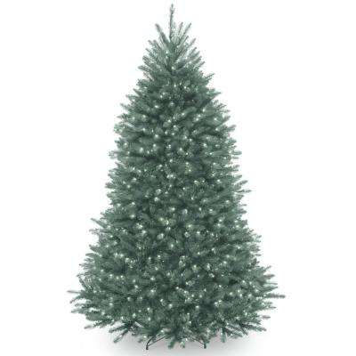 7 ft. Dunhill Blue Fir Hinged Tree with Clear Lights