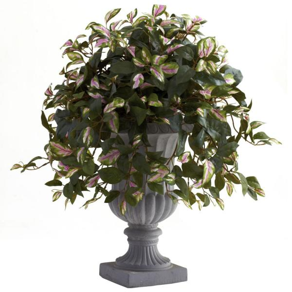 Nearly Natural Hoya With Decorative Urn 6782 The Home Depot