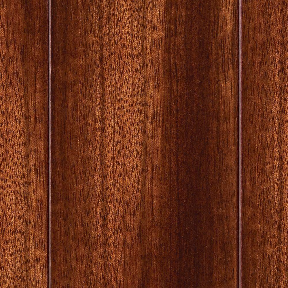 Good Take Home Sample   Brazilian Cherry Click Lock Hardwood Flooring   5 In. X 7