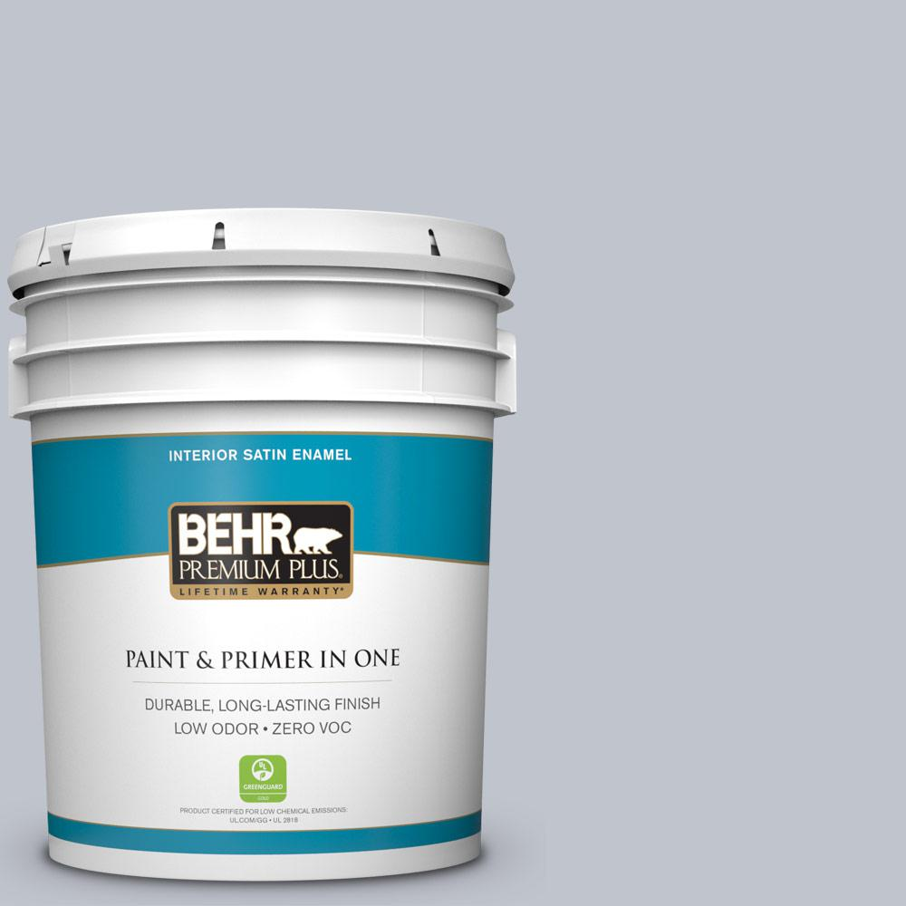 BEHR Premium Plus 5 gal. #N540-2 Glitter Satin Enamel Zero VOC Interior Paint and Primer in One