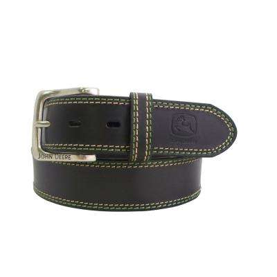 Men's Size 34 Black Double Stitched Bridle Belt