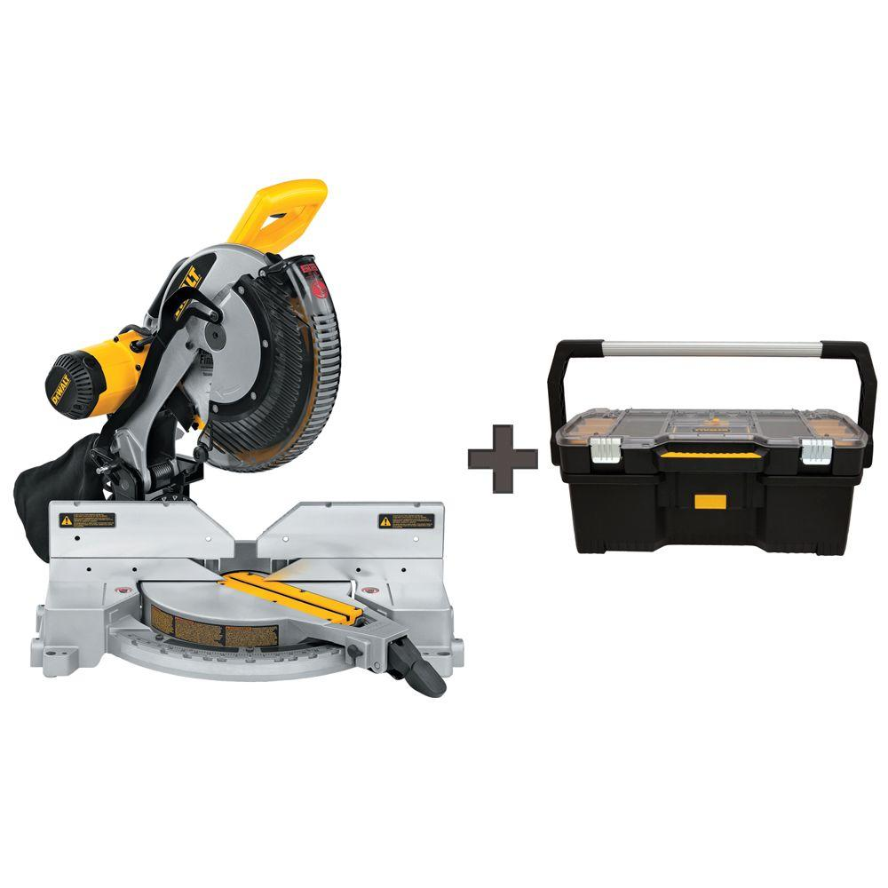 15 Amp 12 in. Double Bevel Compound Miter Saw with Free