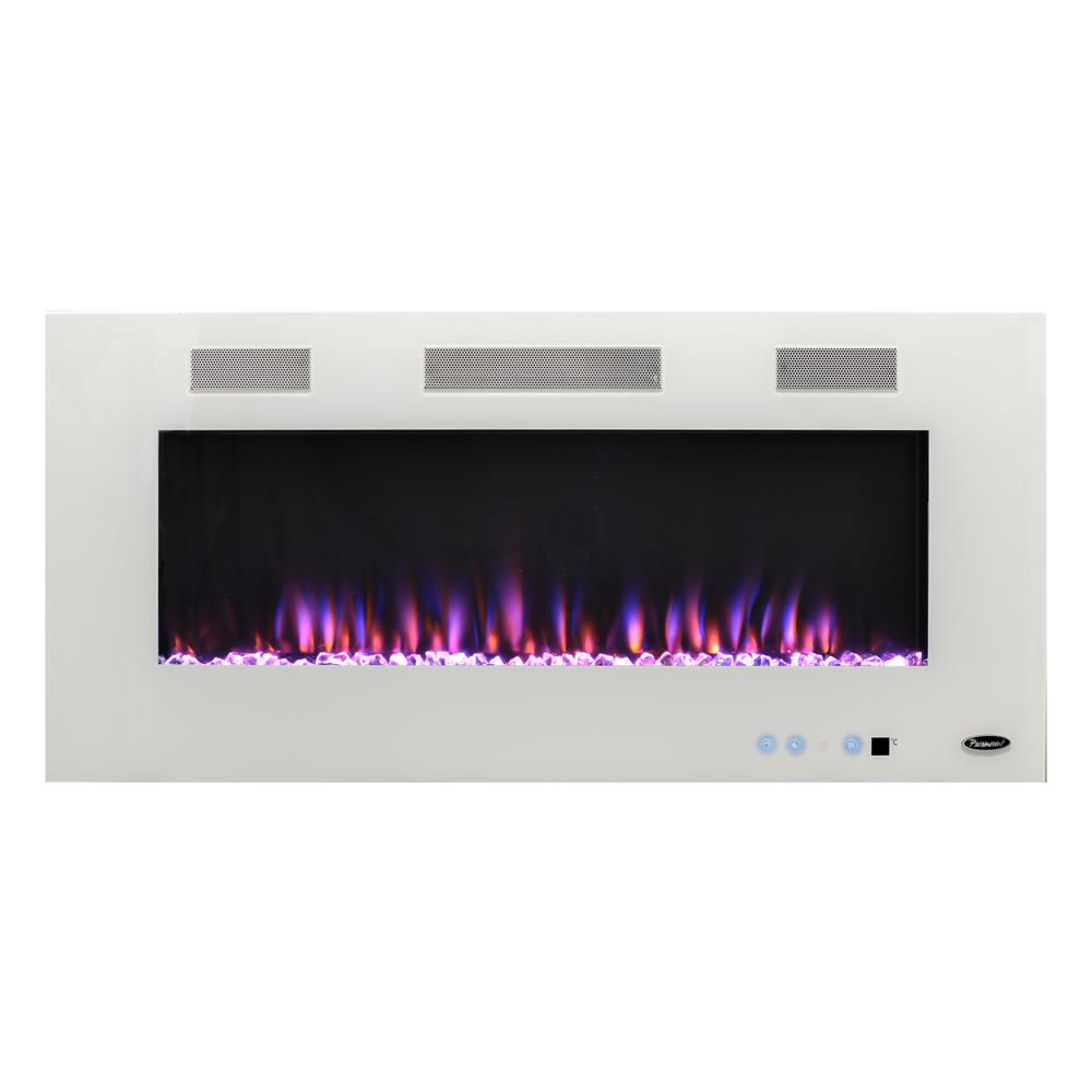 Paramount Premium 50 in. Wall-Mount Electric Fireplace in White