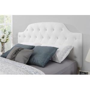 Dorel Living Lyric White Queen Full On Tufted Faux