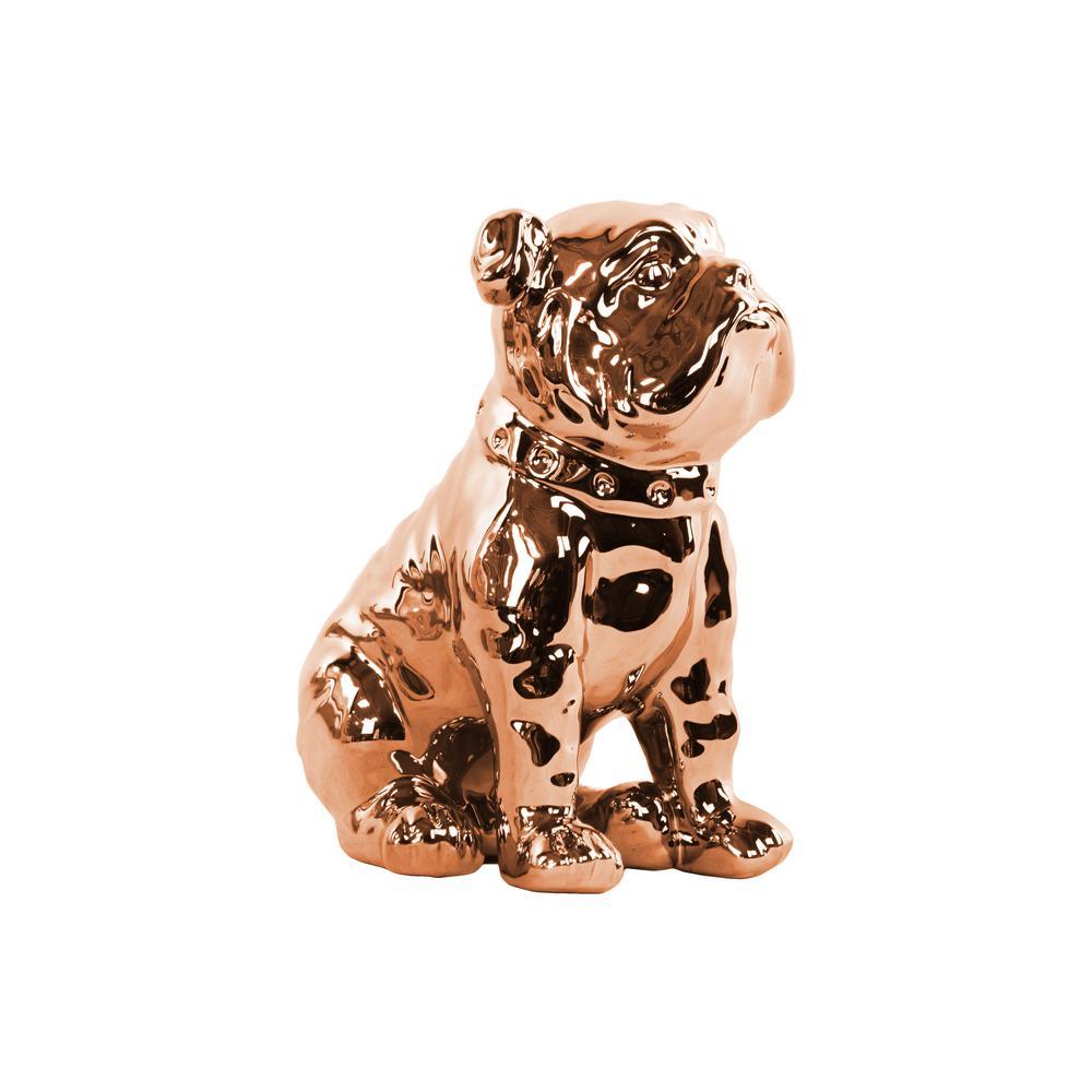 8.00 in. H Figurine Decorative Sculpture in Rose Gold Polished Chrome
