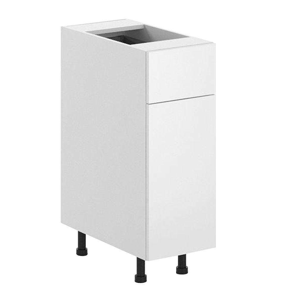 Ready to Assemble 12x34.5x24.5 in. Alexandria Base Cabinet in White Melamine