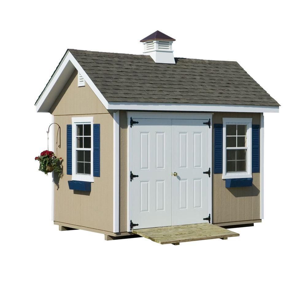 HomePlace Structures 8 ft. x 12 ft. Studio Garden Building with Floor
