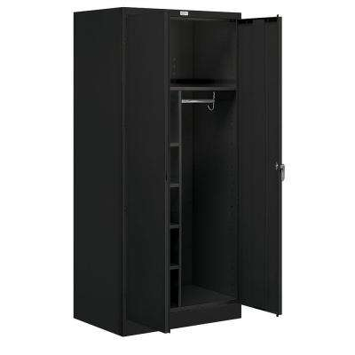 36 in. W x 78 in. H x 24 in. D Combination Storage Cabinet Unassembled in Black