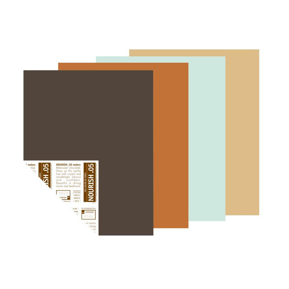 YOLO Colorhouse 12 in. x 16 in. New Nostalgia Trend Palette Pre-Painted Big Chip Sample (4-Pack)-DISCONTINUED