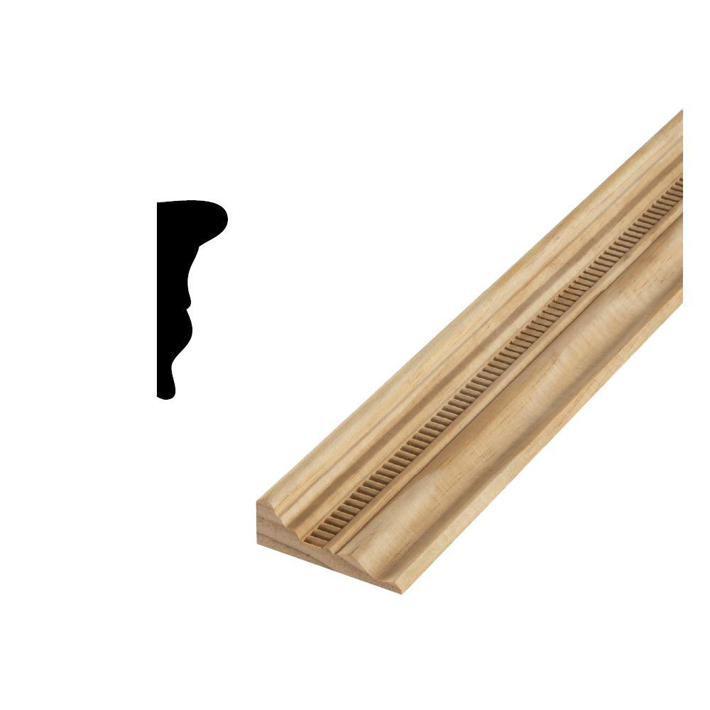 DM 300EM 1-1/16 in. x 2-15/16 Solid Pine Chair Rail Moulding