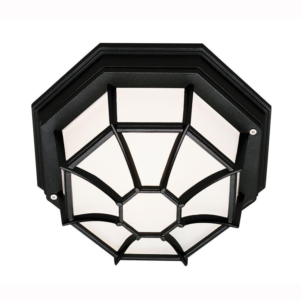 Bel Air Lighting Web 1-Light Outdoor Black Ceiling Fixture