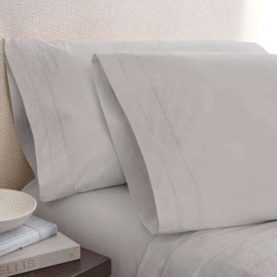 Smoke Cotton Twin Pillowcase Pair