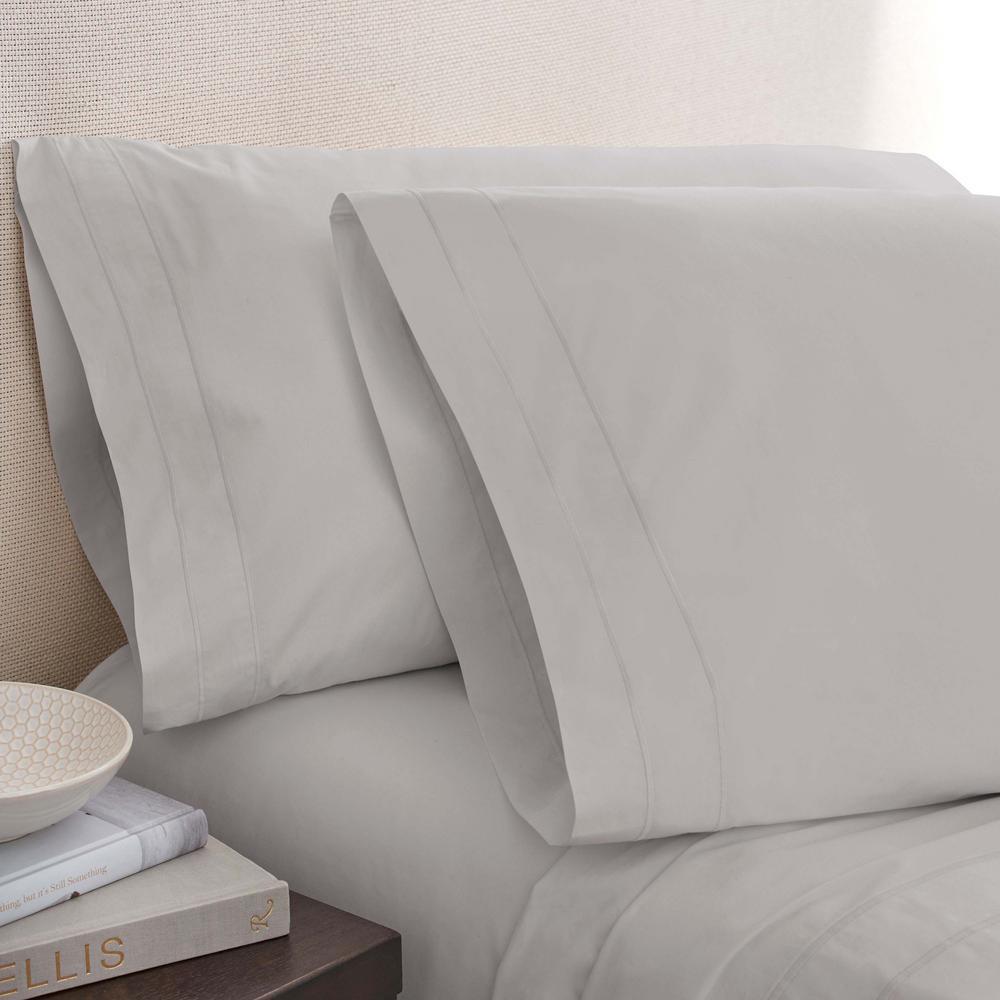 Smoke Cotton Twin Pillowcase Pair