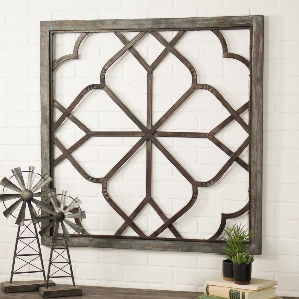 Aspire Home Accents Belden Oversized Distressed White Wall