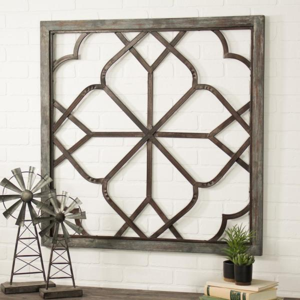Aspire Home Accents Belden Oversized Distressed White Wall Decor