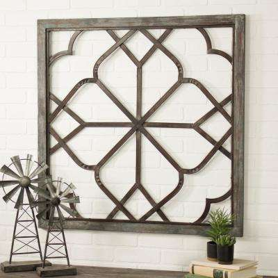 Belden Oversized Distressed White Wall Decor
