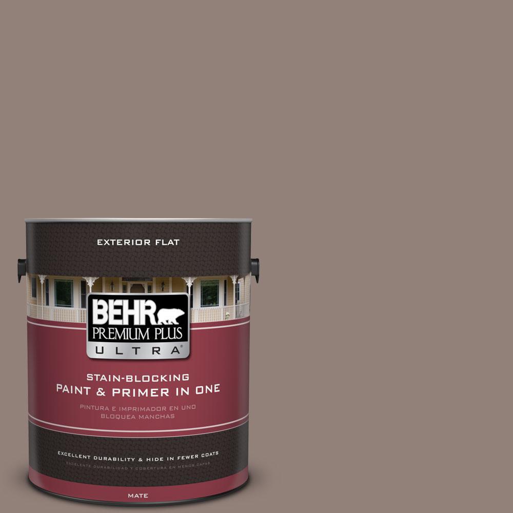 BEHR Premium Plus Ultra 1-gal. #BNC-22 Chocolate Chiffon Flat Exterior Paint